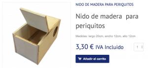 Comprar nido periquitos